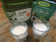 Hemp on the left and coconut on the right.